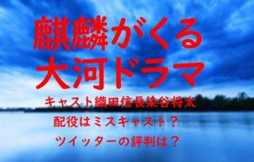 麒麟がくる 大河ドラマ キャスト 織田信長 染谷将太 配役 ミスキャスト ツイッター 評判