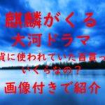 麒麟がくる 大河ドラマ 通貨 百貫 画像