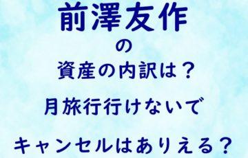 前澤友作 資産 内訳 月旅行 行けない キャンセル ありえる